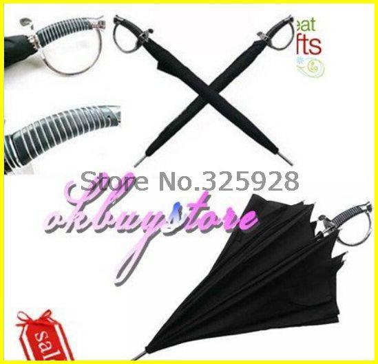 Оптовая продажа 40 шт./лот, Японский самурай ниндзя катана зонтик черный, Зонтик меч самурая