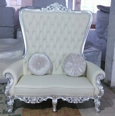 Loveseat Couch Sofa Upholstered On Tufted Nailhead High Back White