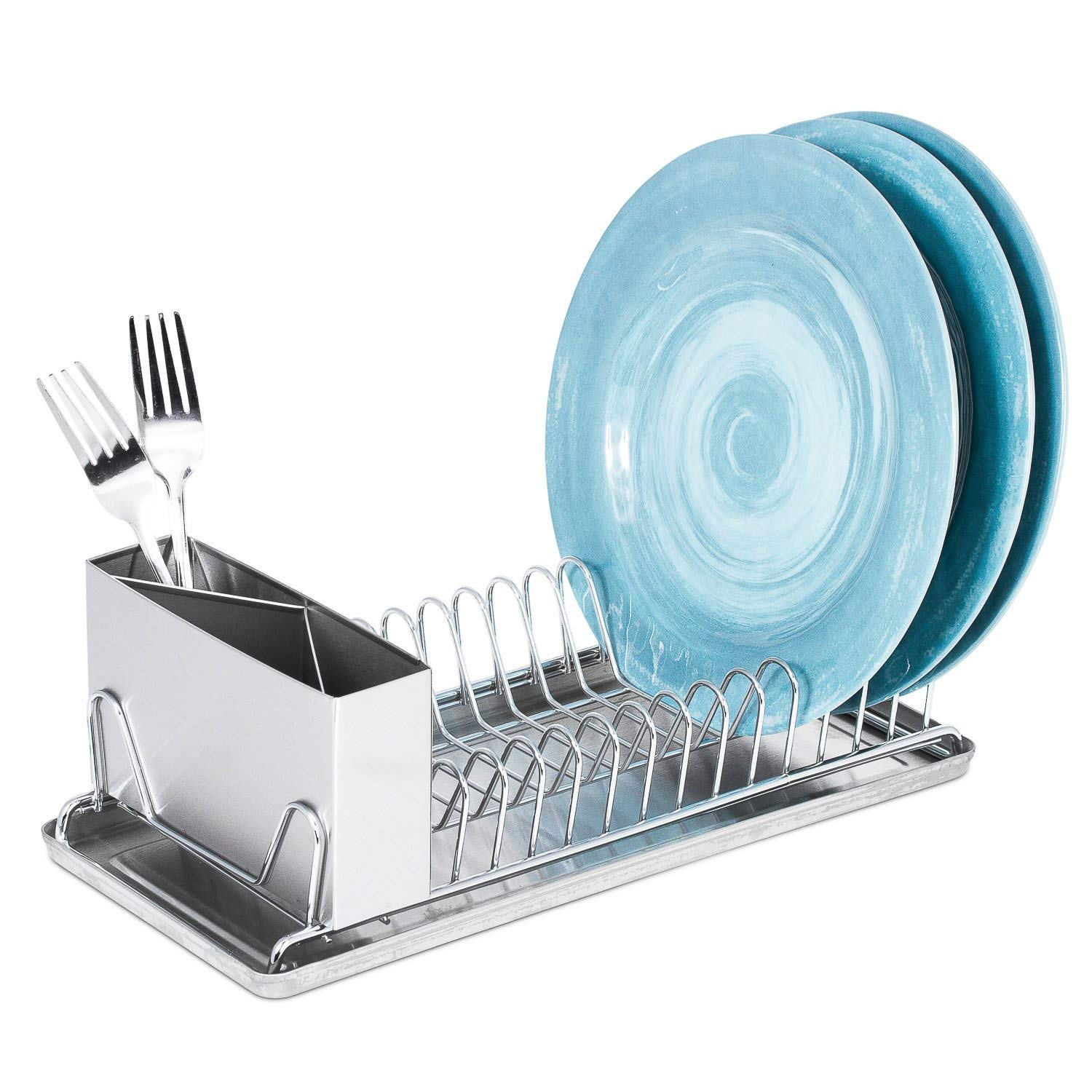 Merveilleux Get Quotations · Dish Drying Rack With Drain Board U2013 Compact With Stainless  Steel Utensil Holder And Dish Rack