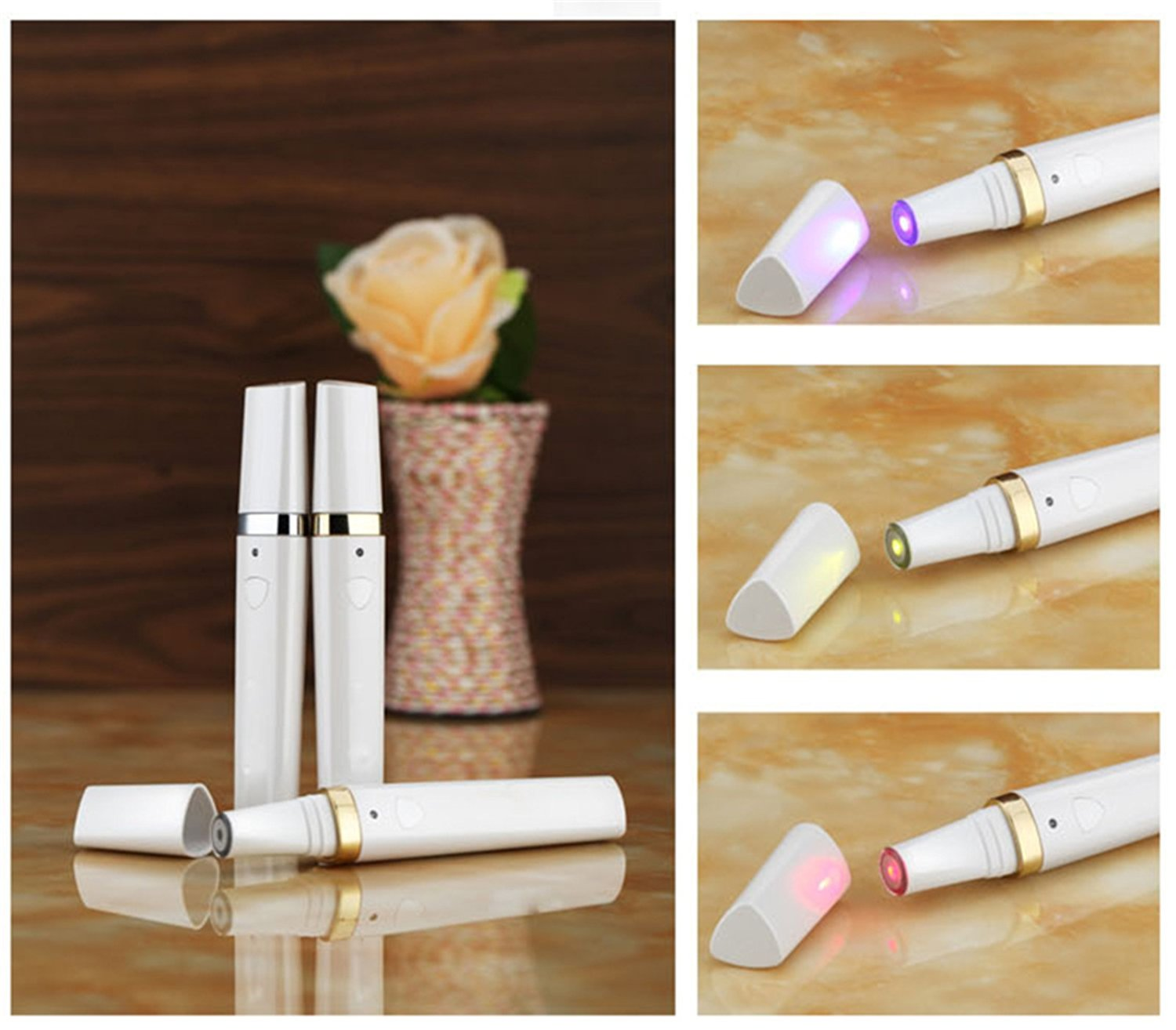 Denshine® Face Acne Removing Pen Light Magic Wand Beauty Device