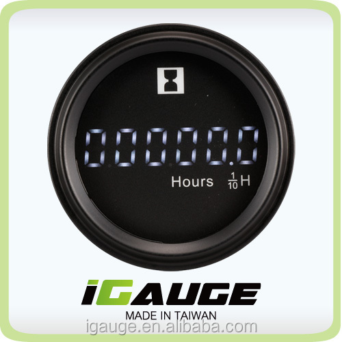 52mm LCD Auto Gauge Round Digital Hour Meter