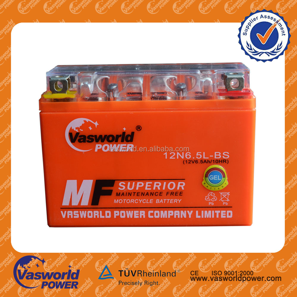 Spain motor 6.5ah 12Volts Spare parts of motorcyle battery