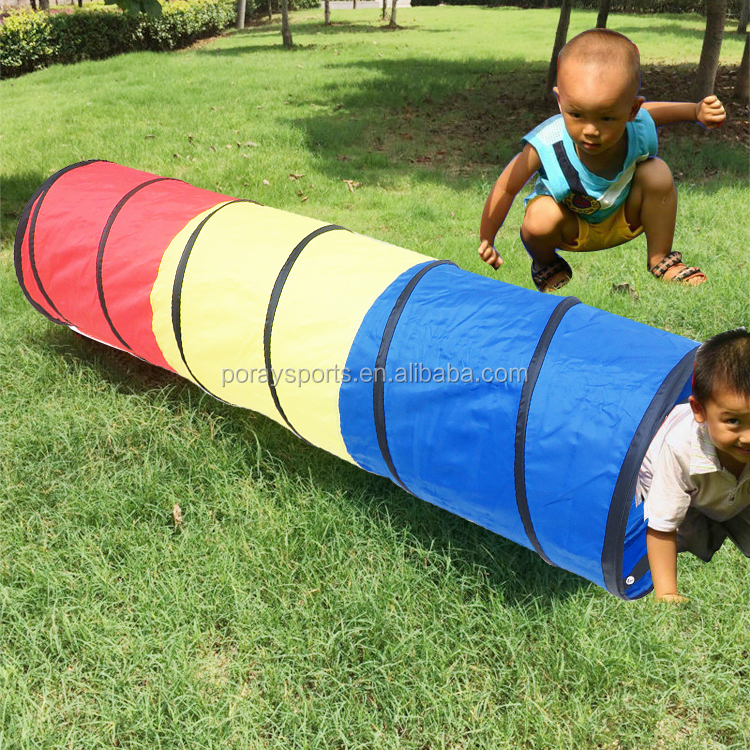 Poray Play Tent Tunnel Pop-up Children Tunnel Kids Adventure Discovery Toy Tube