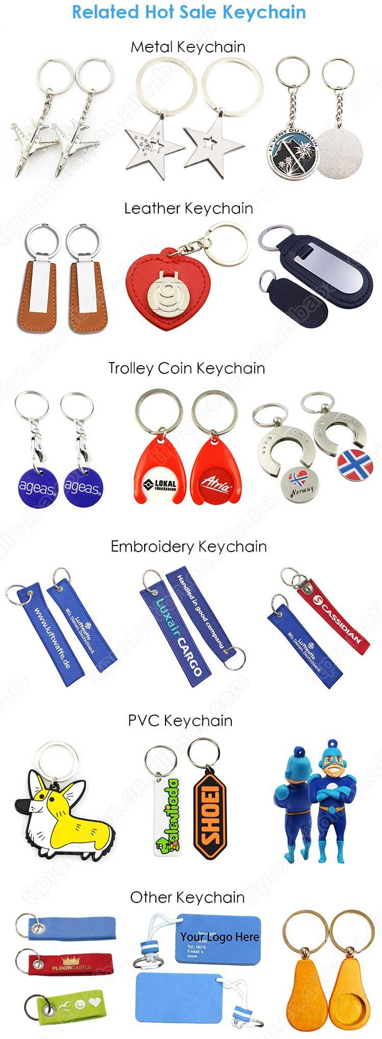 En gros en vrac fait à la main personnalisé en cuir Pu voiture marque Logo porte-clés nom carte porte-clés