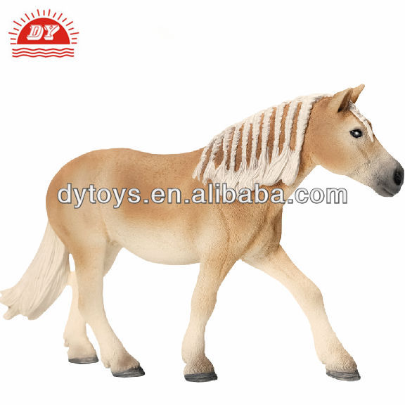 ICTI factory customized plastic flocking animal horse toy