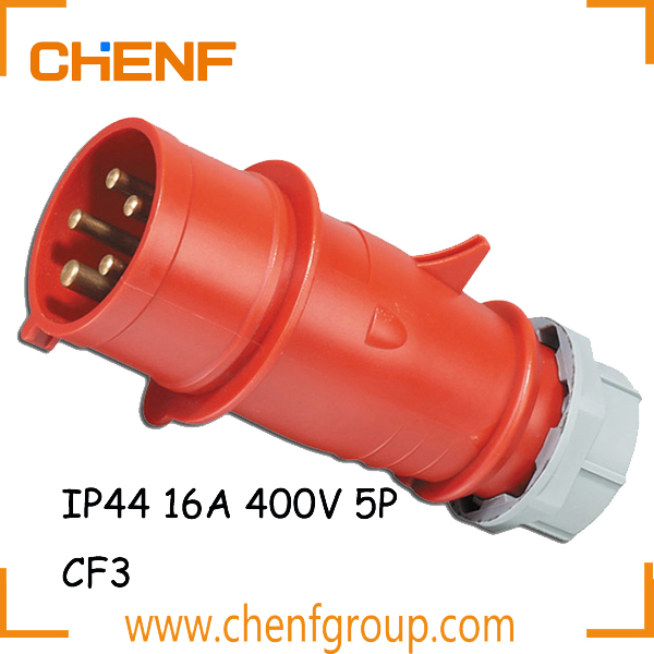 High Quality Cheaper 16 Amp Industrial Plug, Electrical Industrial Plug And Socket, 400V IP44 Industrial Plug & Socket 5P