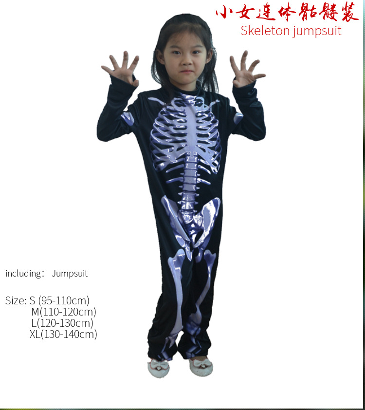 Skull jumpsuits halloween carnival costumes