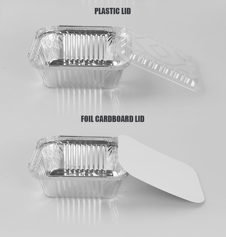 Silver Foil Rectangular Takeout Container