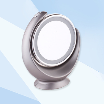luxury ladies fancy item beauty hand mirror with stand led light table magnification makeup fancy hand mirror40 mirror