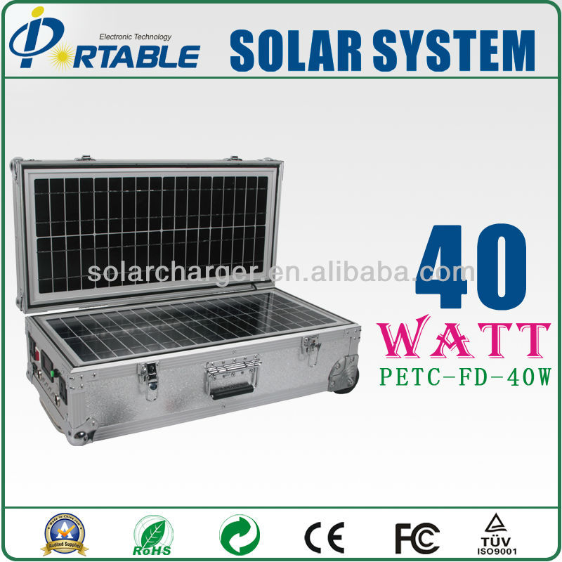 40W off grid solar renewable lighting system for home use