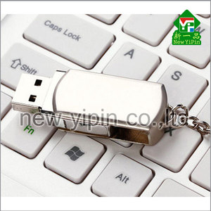 New Yipin Factory Prices Swivel USB Flash Drives 8GB Mini USB with Chain