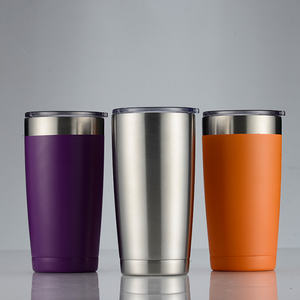 Wholesale Amazon Hot Selling Powder Coat Double Wall Stainless Steel Coffee Tumbler Mug
