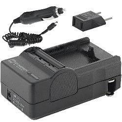 Canon VIXIA HF200 Camcorder Battery Charger (110/220v with Car adapter) - Replacement Charger for Canon BP-808, BP-809, BP-818 BP-819, BP-827 Battery