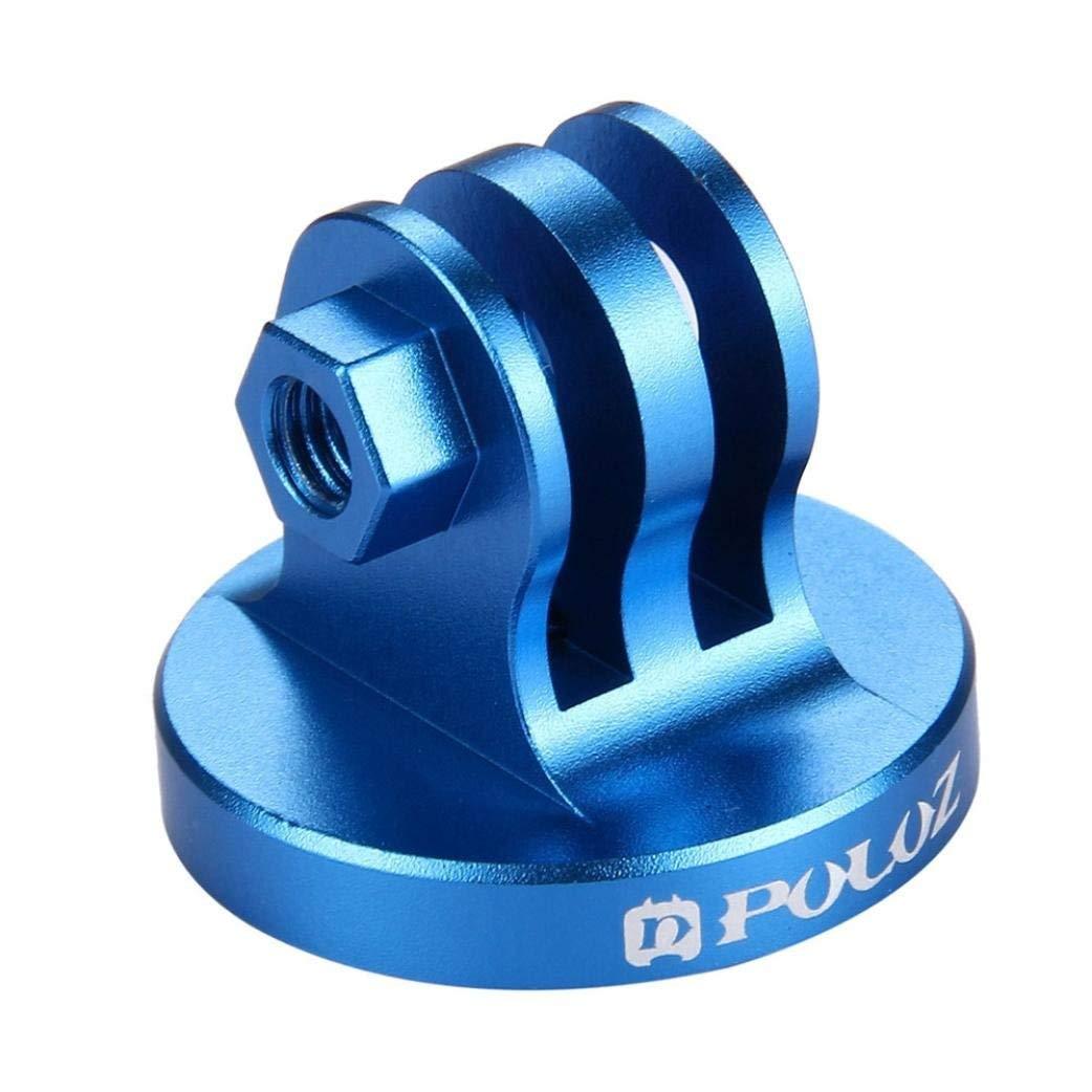 Lljin PULUZ CNC Camcorder Tripod Mount Adapter + Screw For GoPro HERO 6 5 4 3/ 3 2 1 (Blue)