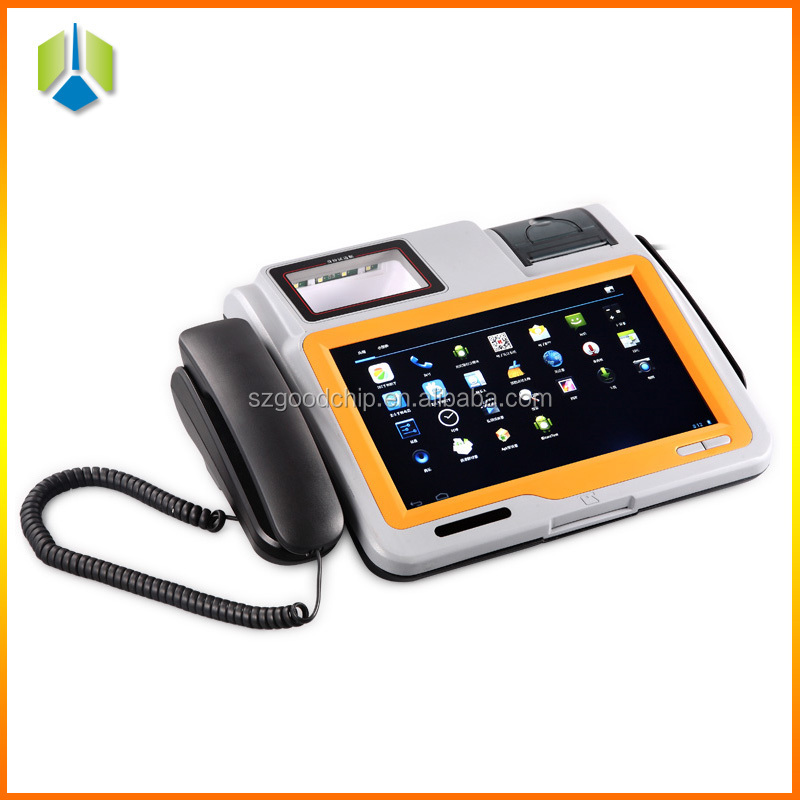 Restaurant pos system with 1D/2D barcode scanner/OCR,high-speed thermal printer---Gc039B