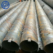 Professional manufacturing Q235B ERW / Spiral welded bridge solt screen steel pipe be used for well drilling