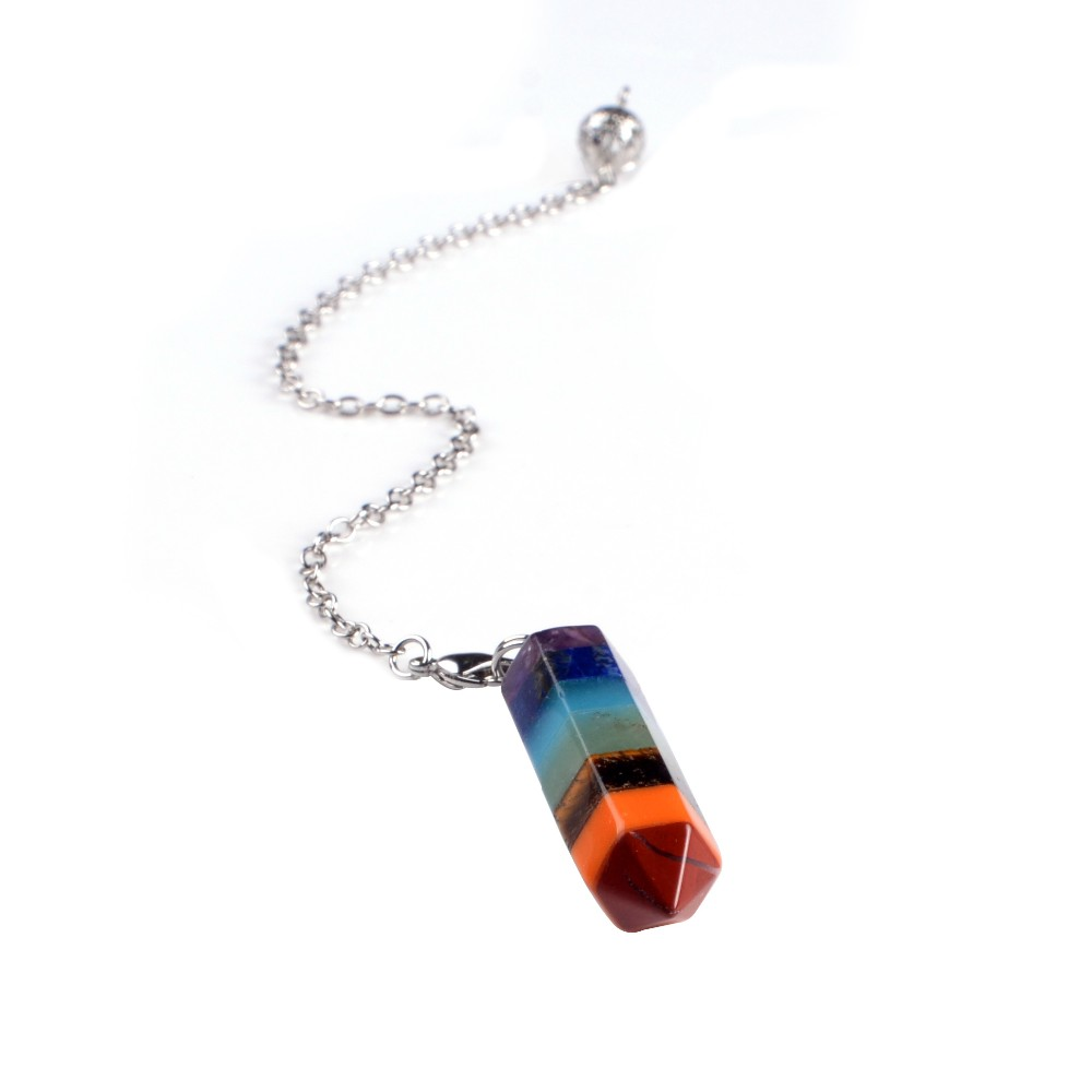 Wholesale Gemstone Rock Crystal Healing Point Chakra Pendant
