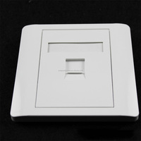 2016 Made in china 1/2/3/4 ports 86*86 type network face plate / network wall outlets / wall information faceplate