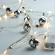 Holiday Decorative battery operated Big Rattan Cotton Ball Fairy LED String light