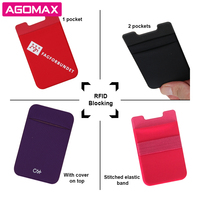 Factory direct sell spandex lycra cell phone credit card holder exporter