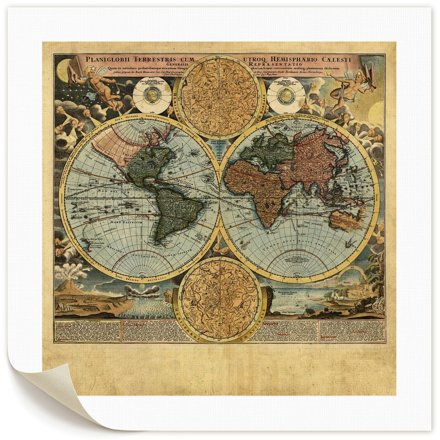 Cheap wall map art find wall map art deals on line at alibaba get quotations donglin art wall art vintage world map paintings poster prints on canvas oil paintings for gumiabroncs Gallery