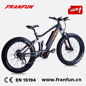 "Full suspension 26"" big tyre bafang max 250W/350W electric beach fatbike"