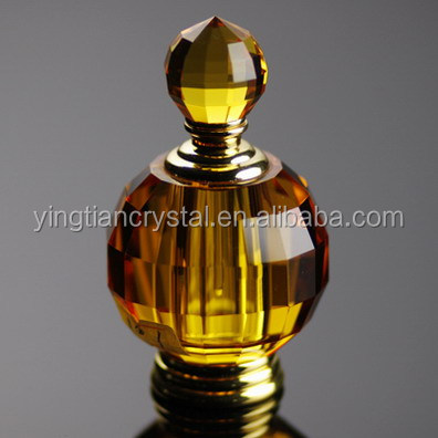 Luxury high quality faceted empty crystal perfume bottle 10ml