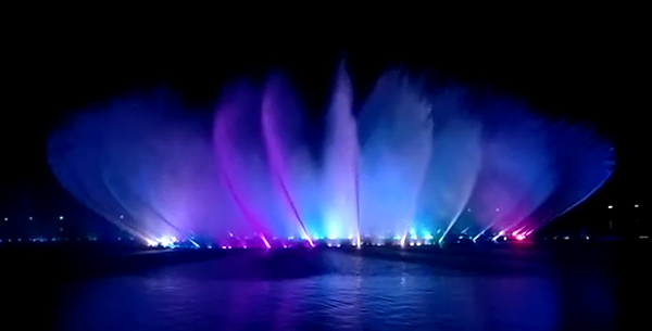 Guangzhou Factory Sale  Big 3D Program Fountain Project LED Music Dancing Fountain