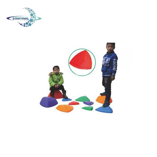 NUOBESTY Equilibrer Les Pierres de Progression Parcours Dobstacles pour Les Enfants Jeu de Coordination Jeux Sensoriels Int/érieurs Ou Ext/érieurs Les Tout-Petits Enfants