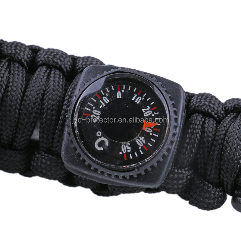 Wholesale Outdoor Camping Multi function Survival Bracelet