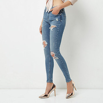 a7d1466e5f96 Womens High Waisted Skinny Stretch Ripped Jeans - Buy Women's ...