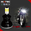 2016 Hotselling A4 Car Motorcycle Head Light Kit 24w 2400lm 4side H4 H6 H7 LED Moto Headlights