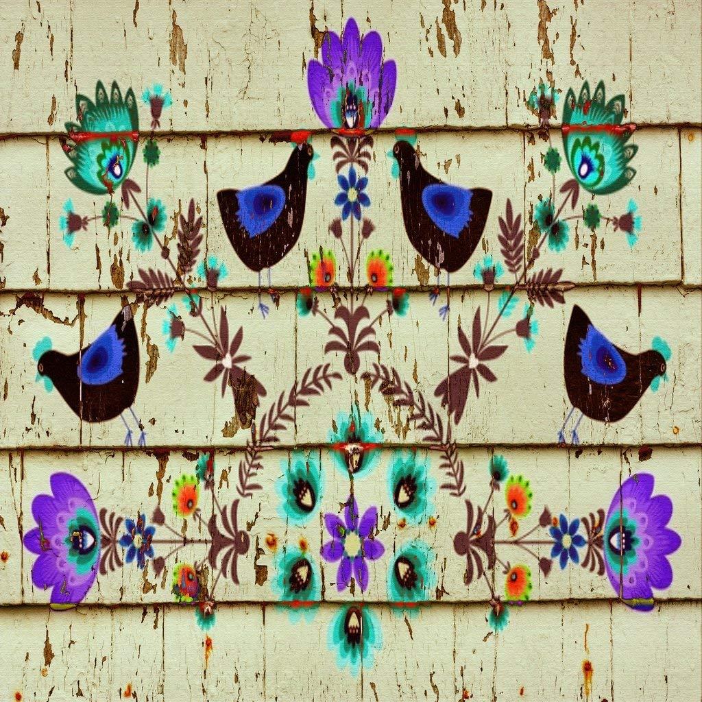 Vinyl Boutique Shop Craft Adhesive Rustic Wood Floral Vinyl Sheets Adhesive Vinyl 0158-3