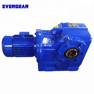 K series helical bevel gear reducer stepper motor,carbon steel reducer,80 ratio gear reducer