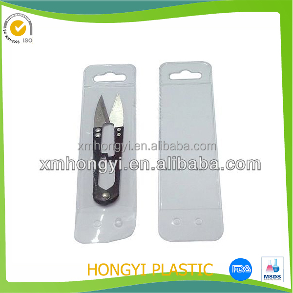 Factory made pvc scissor pouch / can be custom your draft and size