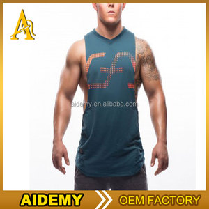 Custom Design Printing Plain Cotton Sport Gym Y Back Tank Top Men