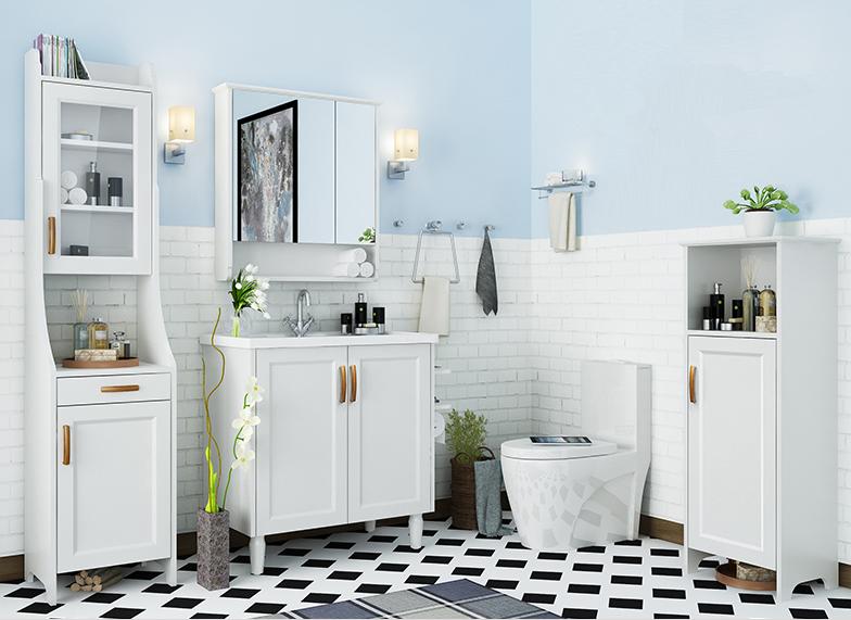 Badkamer hoekkast badkamer ontwerp idee n voor uw huis samen met meubels die het - Rustieke badkamer meubels ...