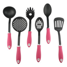 6PCS Non-sticking <span class=keywords><strong>TPR</strong></span> Handle Nylon Kitchen Utensils Set
