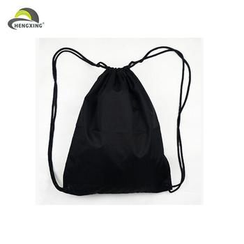 Blank Custom Small Order Black Waterproof Sports Drawstring Bag ...