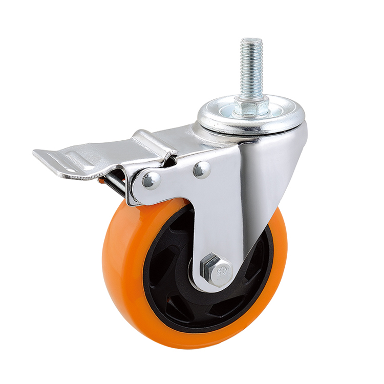 "4"" Industrial Caster Wheels Threaded stem caster wheel"