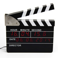 UCHOME New arrive led digital movie clapper alarm clock