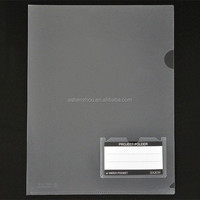Top grade custom PP file folder a4 size transparent sheet L shape plastic document folder