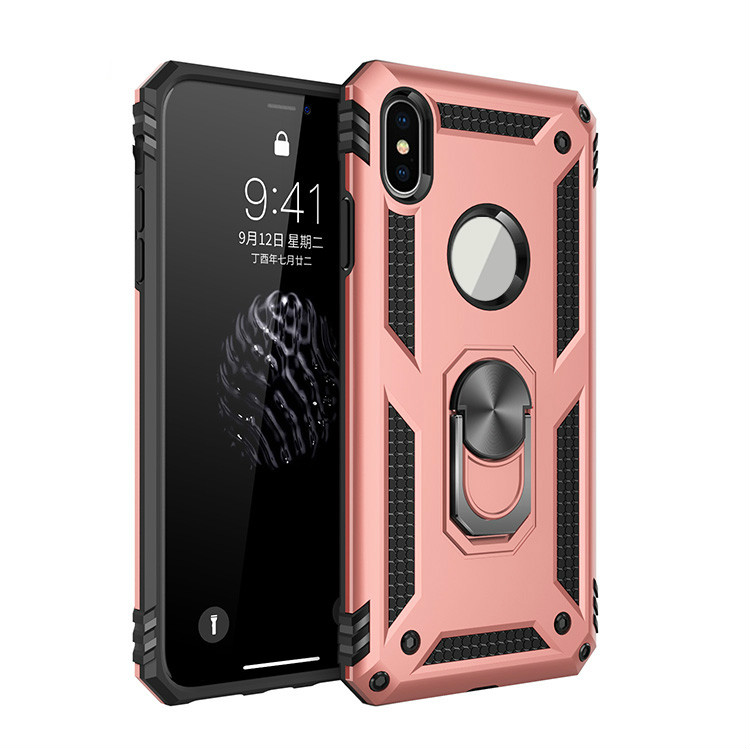 2019 OEM Smartphone PC TPU Hybrid <strong>Cover</strong> for iPhone X Case Mobile Phone Accessories With Ring Holder