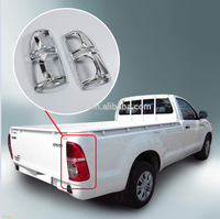 auto defending parts head light cover chrome accessories head light cover for Hilux champ
