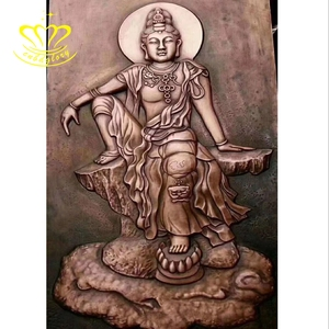 Metal craft bronze Wall Relief Buddha statue for sale