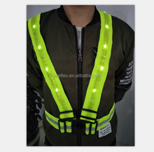 Reflective LED Running Vest Safety Vest High Visibility for Running Walking Motorcycle Climbing etc Fully Adjustable
