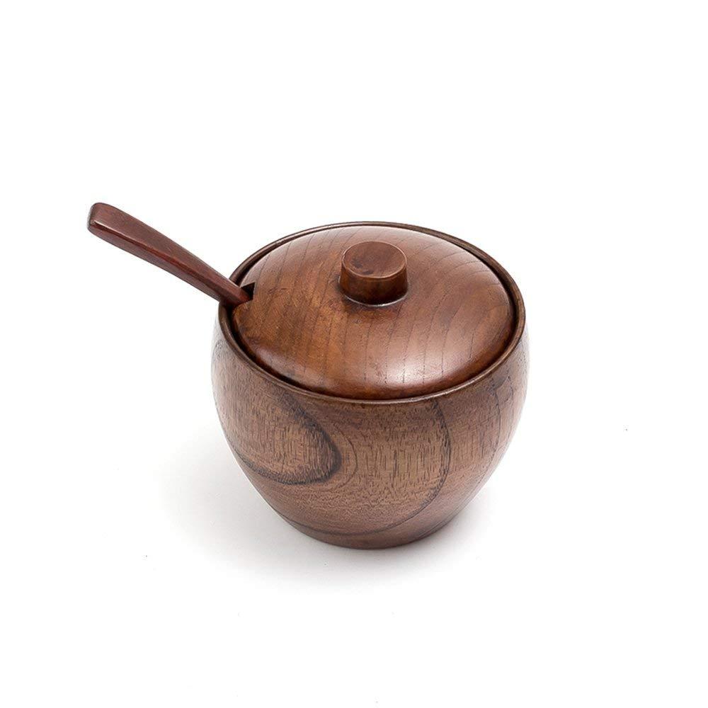 Buy Massjoy Solid Wood Spice Jar Kitchen Supplies Seasoning Jar Salt ...