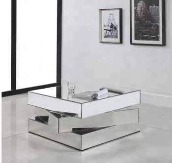 Home Furniture Accent Cheap Mirrored Coffee Table 3 Square Layers View Fancy Mirrored Coffee Table Wangsheng Product Details From Dongguan Wangsheng