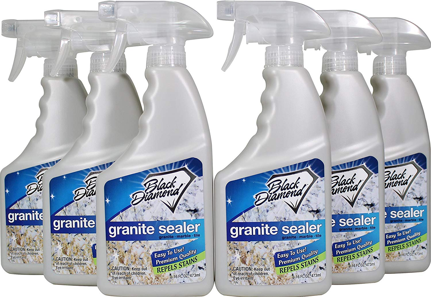 Black Diamond Stoneworks Granite Sealer: Seals & Protects, Granite, Marble, Travertine, Limestone & Concrete Counter Tops. Works Great On Grout, Fireplaces and Patios. 6 pack