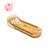 mini indoor wooden bowling game